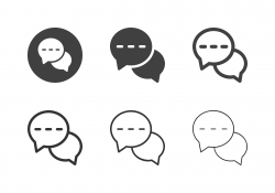 Online Chat Icons - Multi Series