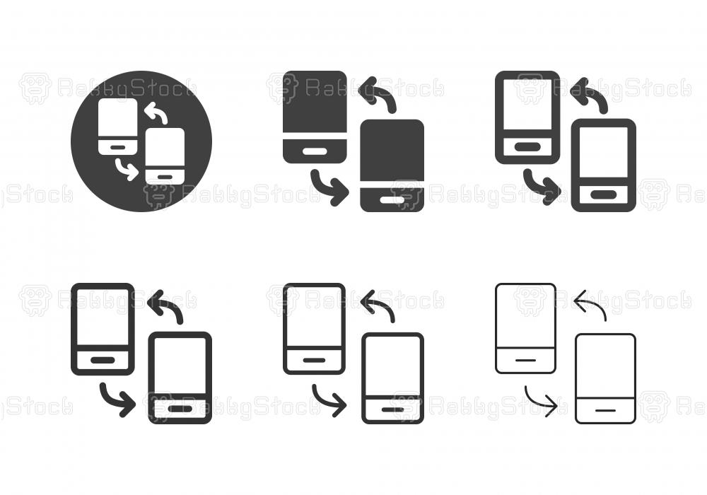 Mobile Data Transfer Icons - Multi Series