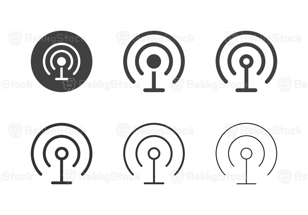 Wireless Communication Icons - Multi Series