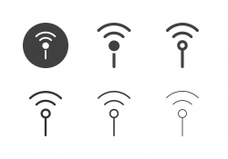 Wireless Antenna Icons - Multi Series