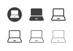 Laptop Icons - Multi Series
