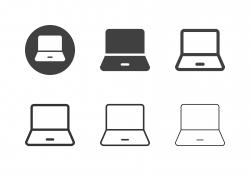 Laptop Icons - Multi Series