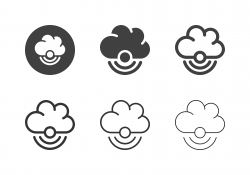 Wireless Cloud Computing Icons - Multi Series
