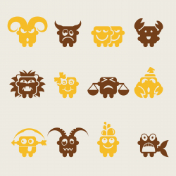 Zodiac Icons - Color Series | EPS10
