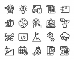 Startup Business - Bold Line Icons