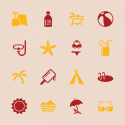 Summer Season Icons - Color Series | EPS10