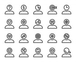 Human Mind Thinking - Bold Line Icons