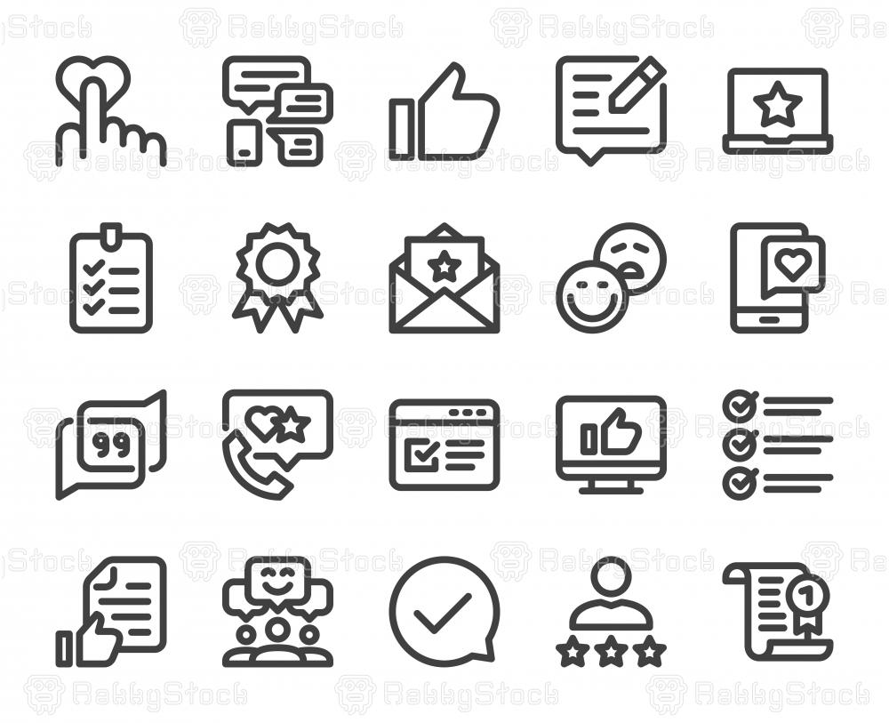 Testimonial - Bold Line Icons