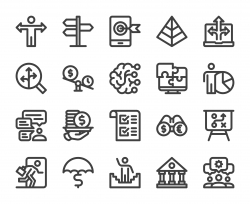 Business Solution - Bold Line Icons