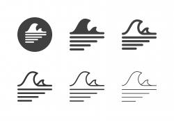 Ocean Wave Icons - Multi Series