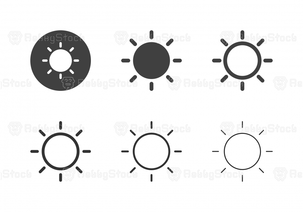Sun Icons - Multi Series