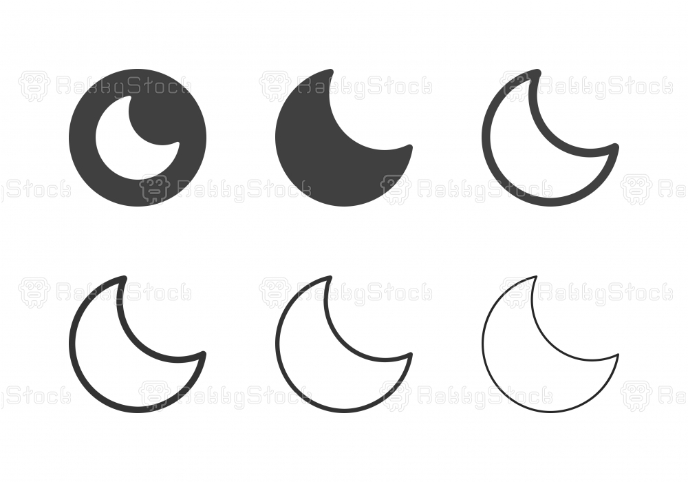 Crescent Moon Icons - Multi Series