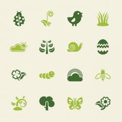 Spring Season Icons - Color Series   EPS10