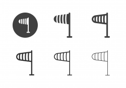 Wind Sock Icons - Multi Series
