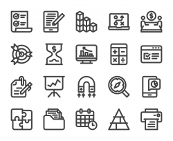 Business Plan - Bold Line Icons