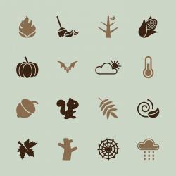 Autumn Season Icons - Color Series | EPS10