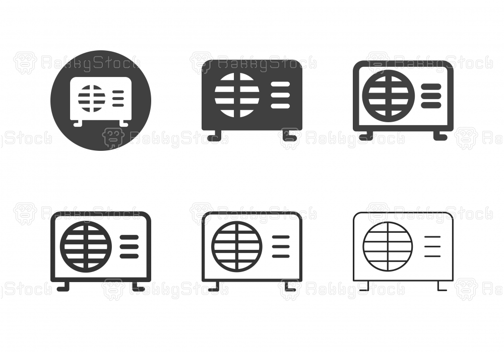Air Compressor Icons - Multi Series