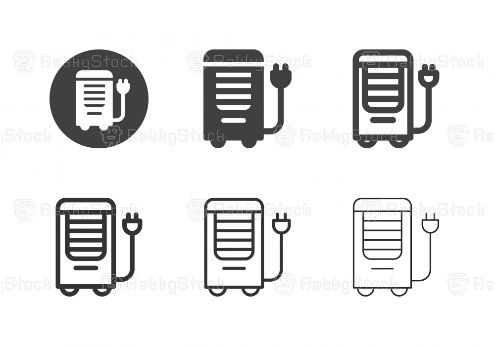 Portable Air Conditioner Icons - Multi Series
