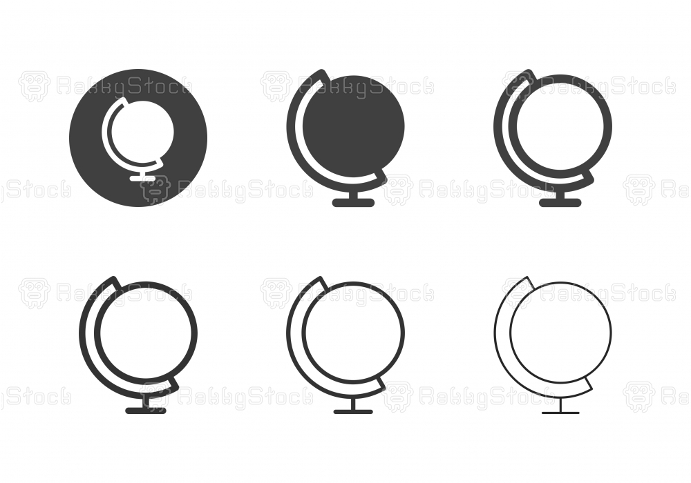 Desk Globe Icons - Multi Series