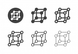 Cube Molecule Icons - Multi Series