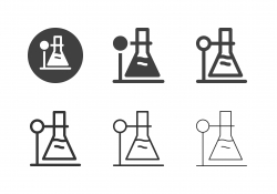 Laboratory Flask Icons - Multi Series