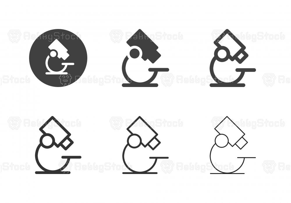 Microscope Icons - Multi Series