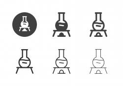 Flask Lab Burner Icons - Multi Series
