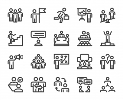 Business People - Bold Line Icons