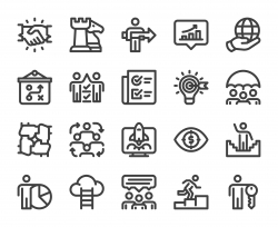 Corporate Development - Bold Line Icons