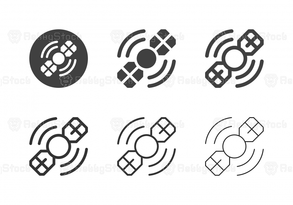 Satellite Icons - Multi Series