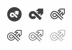 Arrow Direction Icons - Multi Series