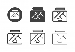 Map on Tablet Icons - Multi Series