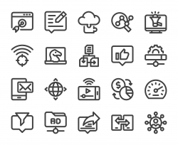 Internet Marketing - Bold Line Icons