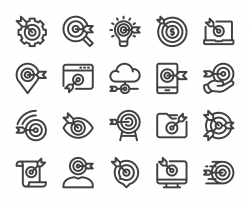 Target Market - Bold Line Icons