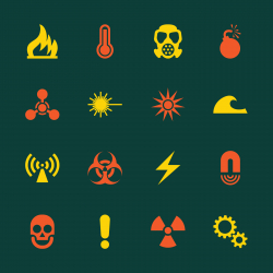 Hazard Sign Icons - Color Series | EPS10