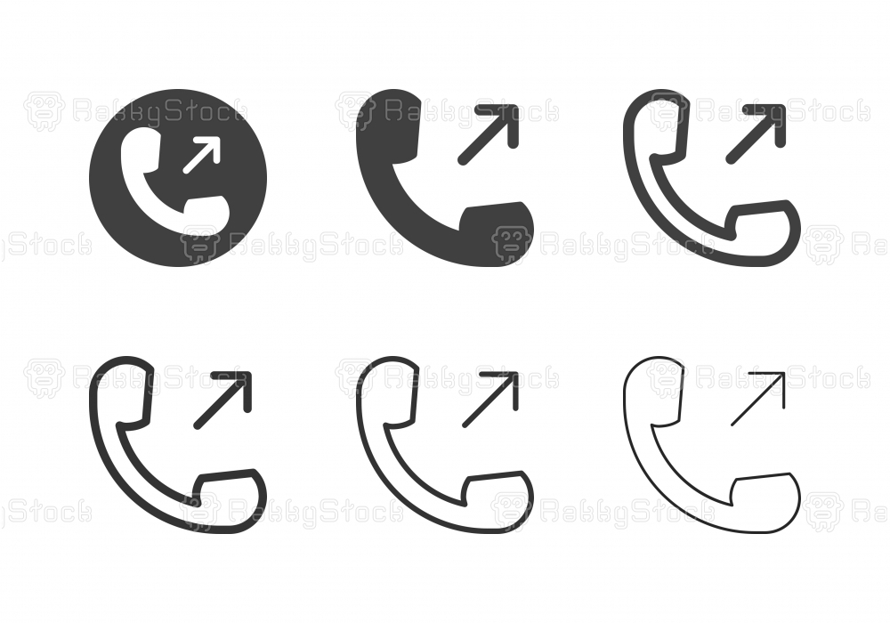 Outgoing Call Icons - Multi Series