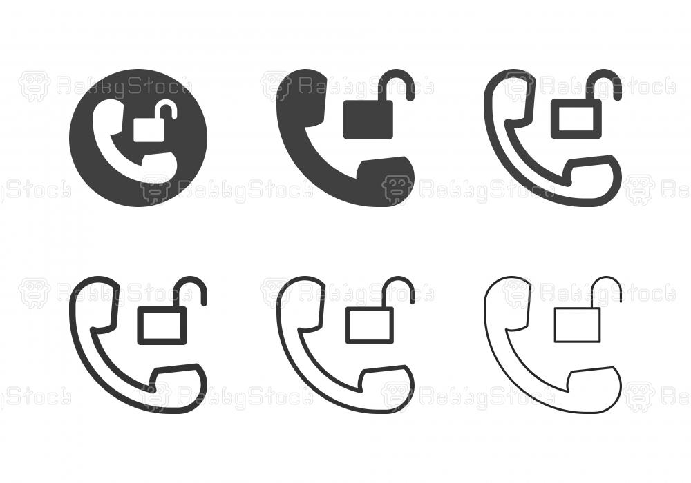 Phone Unlock Icons - Multi Series