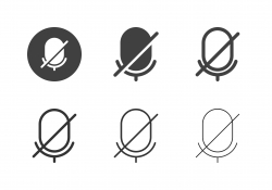 Mic Off Icons - Multi Series