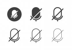 Mic Off Icons - Multi Series