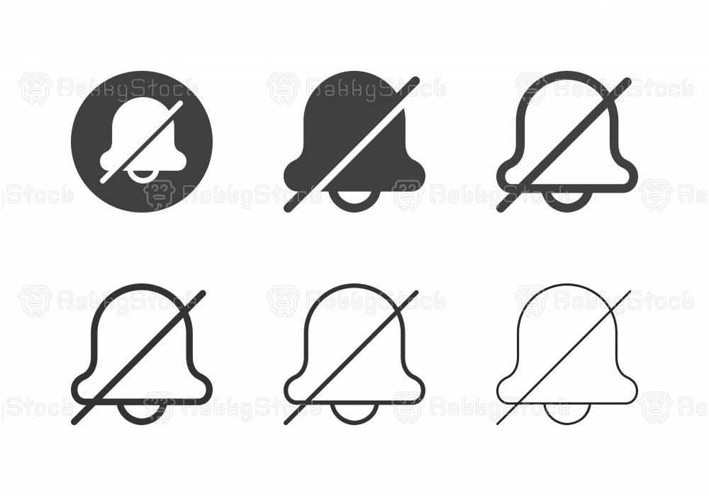 Silent Bell Icons - Multi Series