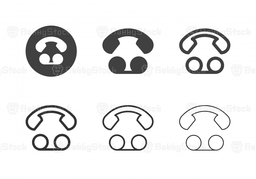 Voice Mail Icons - Multi Series
