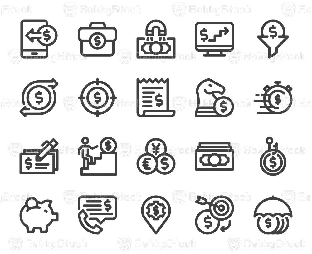 Making Money - Bold Line Icons