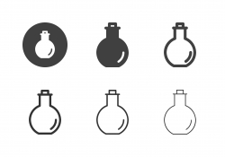 Ceramic Bottle Icons - Multi Series