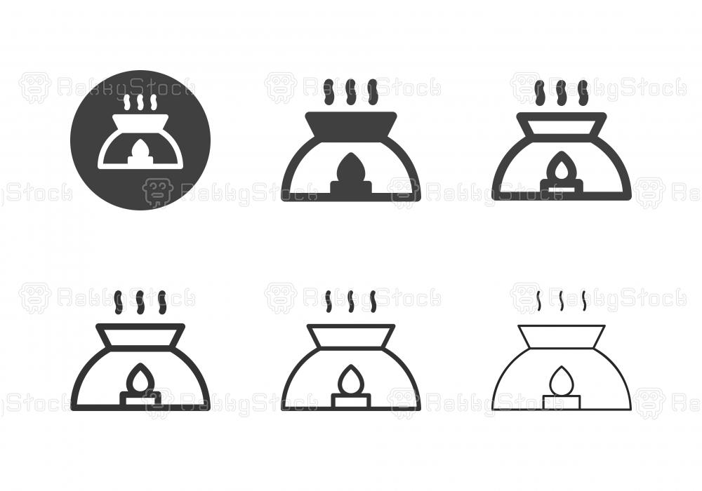 Essential Oil Lamp Icons - Multi Series