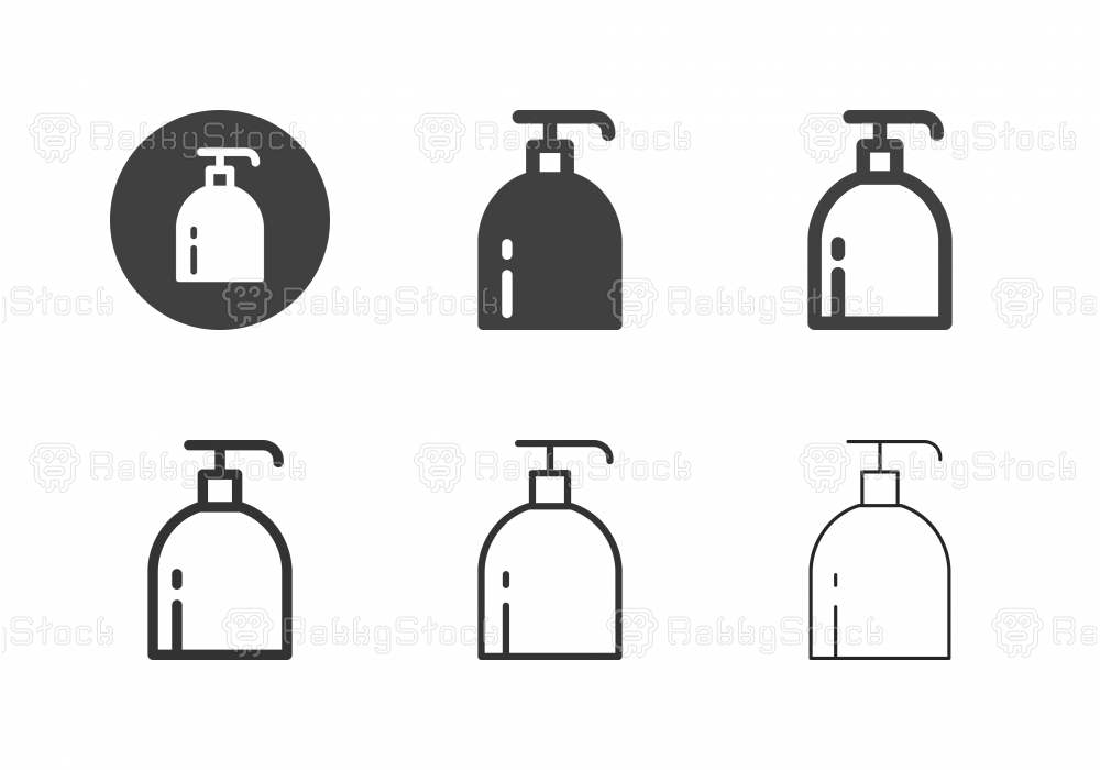 Pump Bottle Icons - Multi Series