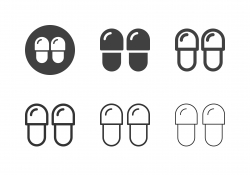 Home Slippers Icons - Multi Series
