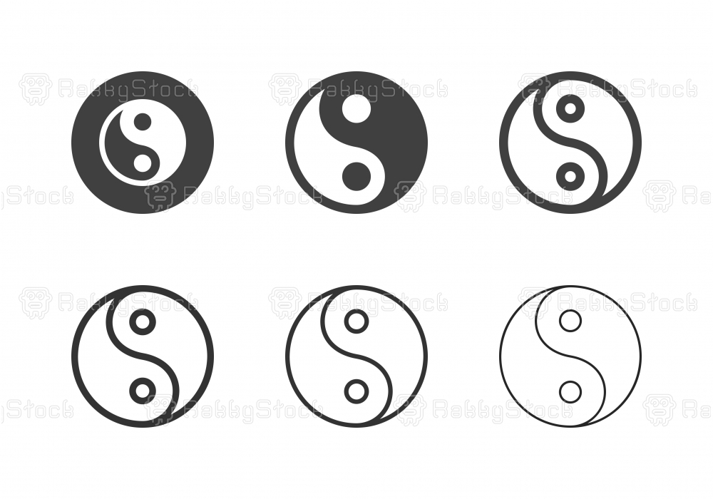 Yin Yang Symbol Icons - Multi Series