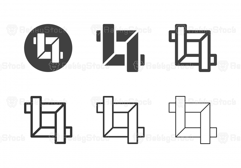 Crop Tool Icons - Multi Series