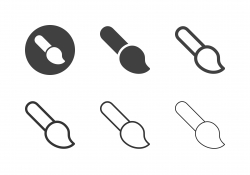Paintbrush Icons - Multi Series