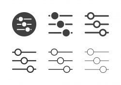 Slide Sound Mixer Icons - Multi Series